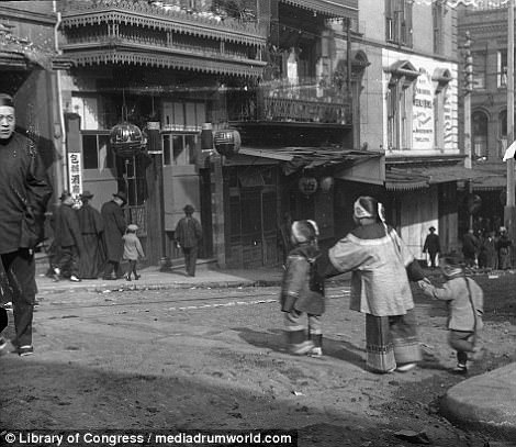 Chinatown, pictured as it was, is these days one of the Bay Area