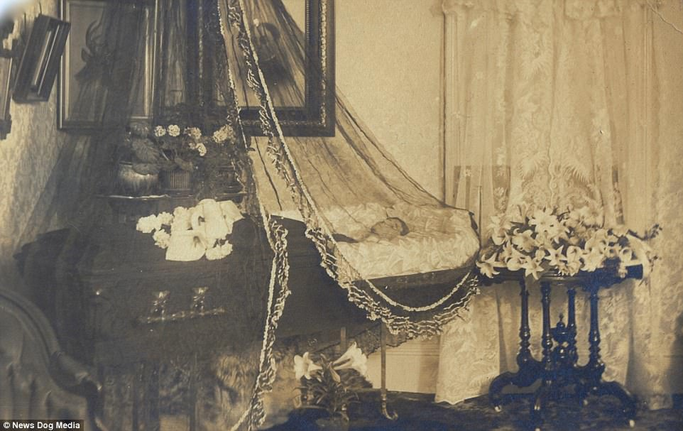 A photograph of a deceased young man laid out in a coffin at home, circa 1910. The invention of the daguerreotype - the earliest photographic process - in 1839 brought portraiture to the masses. It was far cheaper and quicker than commissioning a painted portrait and it enabled the middle classes to have an affordable, cherished keepsake of their dead family members