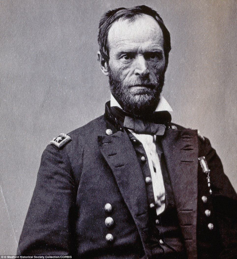 Major General William Tecumseh Sherman (182-1891) in Washington, 1865, by Matthew Brady. Sherman is considered one of the ablest Union Generals of the American Civil War
