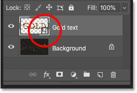 Photoshop placed the text effect file as a smart object
